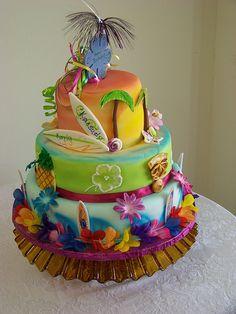 Hawaiian Luau Birthday Cake Ii Luau Cakes Luau Birthday intended for The Most Hawaiian Birthday Cakes - Best Birthday Party Ideas Hawaiian Birthday Cakes, Hawaiian Luau Party, Themed Birthday Cakes, Themed Cakes, 35th Birthday, Beach Cake Birthday, Happy Birthday, Summer Birthday, Birthday Ideas
