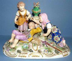 Antique porcelain group by  Derby C. 1850's