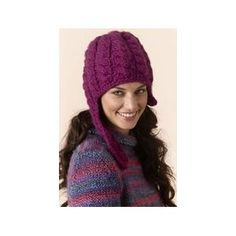 Cabled Hat with Chin Strap FREE Knitting Pattern by Tahki Yarns
