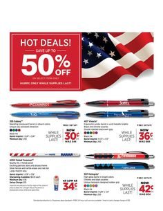 Hot Deals on Patriotic Pens