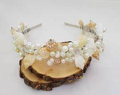 GRATIS envío playa Tiara nupcial boda concha casco, corona sirena, accesorios de la boda, pelo de sirena, niña de las flores, diadema de conchas
