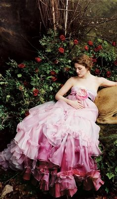 Drew Barrymore in Christian Lacroix Haute Couture.