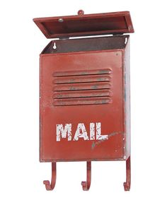 Red Weathered Mailbox by VIP International  ($53.00)  $30.00 Zulily