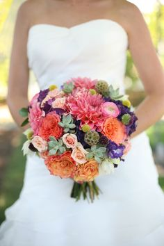 "beautiful wild flower bouquet. I like this one best of the ""wild flower"" combos. The colors give you lots to choose from for themes and dresses, etc."