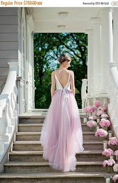 THIS WEEKEND ONLY Wedding dress, unique wedding dress, open back wedding dress, ballerina wedding dress, tulle wedding dress, backless brida