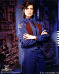 Torri Higginson - Dr. Elizabeth Weir head of Stargate Atlantis who was badly hurt ina  Wraith attack and accidentally turned into a replicator and later saved the base from another attack.