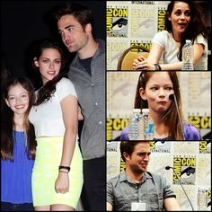 Kristen, Rob, Mackenzie - Comic-Con cuteness.  July 12, 2012.