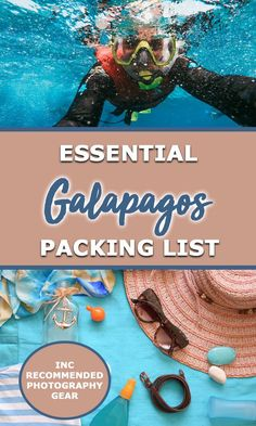 Everything you need for your Galapagos packing list including what to wear in the Galapagos and all the snorkelling and camera gear you'll want and need. Galapagos Trip, Galapagos Islands, Cuenca Ecuador, Photography Gear, Photography Equipment, Portrait Photography, Wedding Photography, Packing List For Travel, Packing Lists