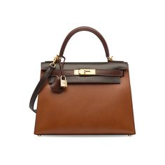 60b935e48667 A LIMITED EDITION NOISETTE, CHOCOLAT, MARRON FONCÉ & NATUREL CALF BOX  LEATHER SELLIER KELLY 28 WITH GOLD HARDWARE , HERMÈS, 2004