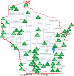 Wisconsin State Parks, Forests, Recreation Areas