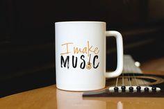 Coffee Mug with Sayings  Guitar Mug Funny Coffee by MariaBMakes