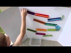 Craft Stick Marble Run | Frugal Fun For Boys