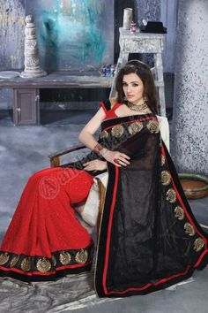 Price:-£45.00, In stock, Design No. DMV7224, Quick Overview:- Andaaz Fashion presents Indian designer Maroon Black Brasso Chiffon Georgette Saree with Art Silk blouse. Embellished with Embroidered, Resham, Zari and Lace Border Blouse, U Neck Blouse, Short Sleeve Blouse.This is perfect for Party,Wedding,Festival,Casual,Ceremonial. For More Details Visit @ http://www.andaazfashion.co.uk/womens/sarees/maroon-black-brasso-chiffon-georgette-saree-with-art-silk-blouse-dmv7224.html