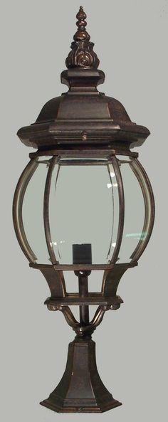 Antique Bronze Flinders 1 Light Exterior Pillar Mount
