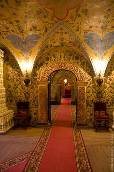 the ancient russian interior.Tsarist palace-Granovitaya chamber