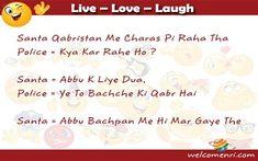 Welcomenri - India's leading portal for Non Resident of India Santa Banta Jokes, Jokes In Hindi, Live Love, Read More, Funny Jokes In Hindi