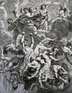 Apocalypse 19. Michael and the angel. Revelation 12 v 7-9. Scheits. Phillip Medhurst Collection