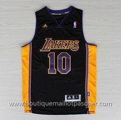 maillot nba pas cher Los Angeles Lakers Nash #10 Noir nouveaux tissu 22,99€