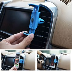 Universal car cellphone holder adjustable cell phone mount holder air vent support the iPhone 6 6 plus Samsung Galaxy Car Cell Phone Holder, Cell Phone Mount, Iphone 5s, Support Telephone, Samsung Galaxy, P8 Lite, Iphone Models, Portable, Air Vent