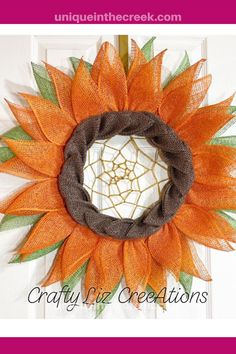 This adorably unique DIY sunflower wreath by Crafty Liz Creations was made using a Unique in the Creek ring wreath board! Such a cool design! Grab your Unique in the Creek ring board and start creating your DIY flower wreaths for your summer front porch decorating today! #diy #wreath #uitc Diy Crafts Useful, Diy Crafts For Kids Easy, Diy Crafts For Teen Girls, Diy Crafts For Gifts, Diy Craft Projects, Flower Wreaths, Flower Crafts, Diy Flowers, Mason Jar Diy