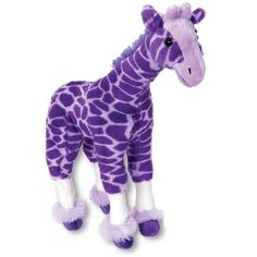 Stuffed Giraffe 17 Inch Posh Purple Plush Animal By The Petting Zoo at... ($9.99) ❤ liked on Polyvore featuring stuffed animals, toys, accessories, kids and misc