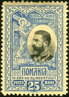 Stamp: King Karl I (Romania) Anniv. of the Kingdom of Romania) Mi:RO 187 Dubai Architecture, Stamp Collecting, My Father, Postage Stamps, Art Forms, Royalty, Poster, Old Things, Anniversary