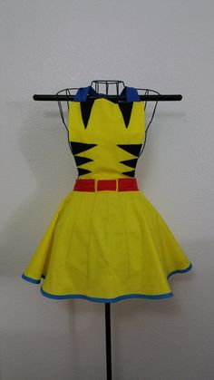 Wolverine Inspired Women's Vintage Style Apron- Made to Order