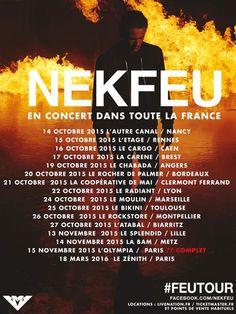 Nekfeu en concert dans toute la France !