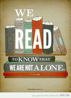 One of my very favorite quotes (although I don't actually think CS Lewis said it), because it is the truth, and you know my deal with the truth. I Love Books, Good Books, Books To Read, My Books, Free Books, Cs Lewis, Reading Quotes, Book Quotes, Quote Books