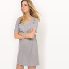 Short-Sleeved Striped Linen Dress R essentiel : price, reviews and rating, delivery.  Fabric content: 55% linen, 45% cottonLining: 100% cottonSleeve length: shortNeckline: grandad collarDress style: straightDesign: stripedFabric details: two-toneLength: knee length