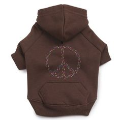 Casual Canine Polyester 24Inch Peace Sign Dog Hoodie XLarge Brown *** You can find out more details at the link of the image. (This is an affiliate link)