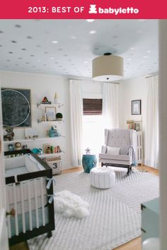 #4: Soft & Starry Nursery on Apartment Therapy by Honey + Fitz featuring a Babyletto Hudson 3-in-1 Convertible Crib