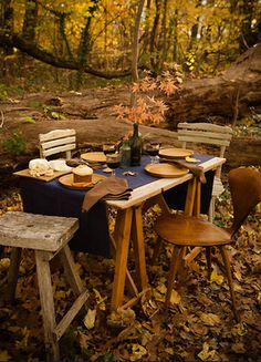 a rustic autumn picnic! yes please!