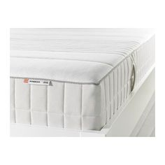 IKEA - MYRBACKA, Latex mattress, Full, medium firm/white, , A thick layer of latex helps you fully relax by contouring to your body to relieve pressure and provide precise support.Lambs wool filling gives a soft surface and help keeps a consistent temperature.High resilience foam gives support for each part of your body by closely following your movements.Comfort zones give very precise support and relieve pressure on your shoulders and hips.A generous layer of soft filling adds support and ...