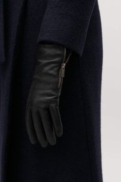 Cos ZIP LEATHER GLOVES