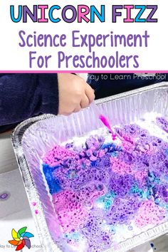 Are you looking for a fun hands-on science activity for preschoolers that involves creating unicorn fizz? Students get to practice their fine motor skills with this spring activity. This preschool science experiment only requires a few supplies making it easy and budget friendly. Students get to explore and use their creativity with this activity. You can set this up as a center and do this in small groups or as a whole class. Enjoy watching your preschoolers explore. Sensory Activities For Preschoolers, Science Experiments For Preschoolers, Spring Activities, Hands On Activities, 5 Senses Preschool, Preschool Lesson Plans, Preschool Classroom, Preschool Ideas, Stem Learning