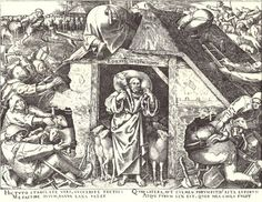 Parable of the Good Shepherd, Peter Bruegel, engraved Phillipe Galle. 1565