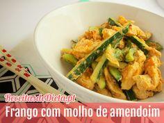 Frango com molho de amendoim Light #receita #light #dieta #fitness