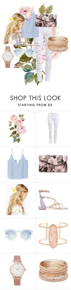 """""""Untitled #44"""" by tamigoogybear ❤ liked on Polyvore featuring MANGO, Urban Expressions, ASOS, René Caovilla, Kendra Scott, Larsson & Jennings and Red Camel"""