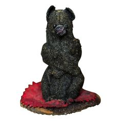 Black Bear Pen Wipe 19th century Folk Art Pen Dauber Folk Art