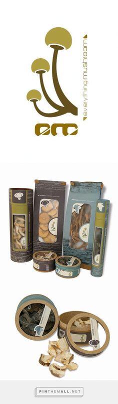 EM Mushroom Package Design by Veneranda Lastimosa on Behance curated by Packaging Diva PD. Yummy, Everything Mushroom packaging design branding Identity.
