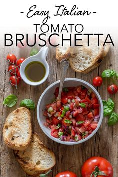 Tomato Bruschetta, is a must for every holiday meal. Toast up some slice Italian bread, then top with a mixture of fresh tomatoes, olive oil and herbs. Italian never tasted so good. This is the perfect red, green and white starter for Christmas! #bruschetta #italain #freshtomato #appetizer #christmas