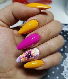 57 Nageldesigns, die so perfekt für den Sommer 2019 sind – # 57 nail designs that are so perfect for summer 2019 – # kullanıyorum … Bright Nail Art, Bright Summer Nails, Cute Summer Nails, Spring Nails, Cute Nails, Pretty Nails, My Nails, Bright Colors, Bright Acrylic Nails