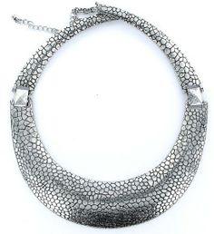 Oxidado Negro Floral Retro Vintage étnica cristales de la CZ Sweater Collar de cadena