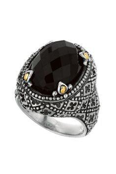 Phillip Gavriel Two-Tone Black Onyx Byzantine Ring by Assorted on @HauteLook