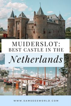 Muiderslot Castle: The Best Amsterdam Castle - SSW. Amsterdam Weekend, Day Trips From Amsterdam, Visit Amsterdam, Travel Couple, Family Travel, Road Trip Europe, See World, Beautiful Castles, Medieval Castle