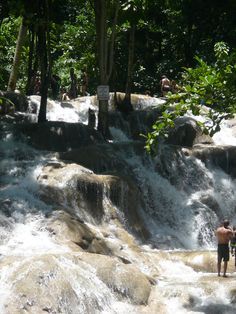 Dunns Falls  Welcome to the beautiful cascading waterfalls of Dunn's River Falls Jamaica. A truly outstanding treasure offering 600 feet of climbing pleasure
