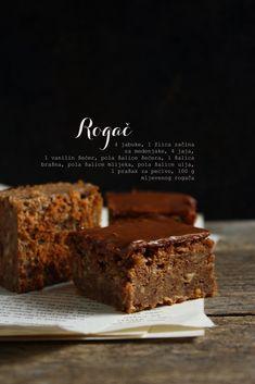 Kocke od rogača i jabuka Fruit Recipes, Baking Recipes, Cake Recipes, Dessert Recipes, Red Wine Chocolate Cake, Peanut Butter Chocolate Bars, Carob Cake Recipe, Desserts To Make, Food To Make