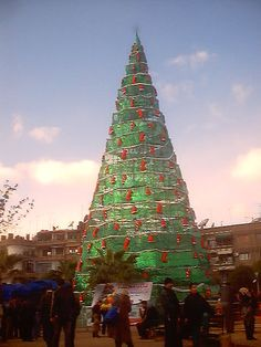 Pray for the Christians in Syria. ISIS 2014 is slaughtering them. Christmas in Damascus, Syria (let's keep kind thoughts for the people of Syria this Christmas) Holidays Around The World, Around The Worlds, Christmas Lights, Christmas Time, Cradle Of Civilization, Christmas Wonderland, Xmas Tree, Tis The Season, Save Syria