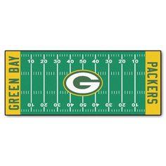nice FANMATS NFL Green Bay Packers Nylon Face Football Field Runner